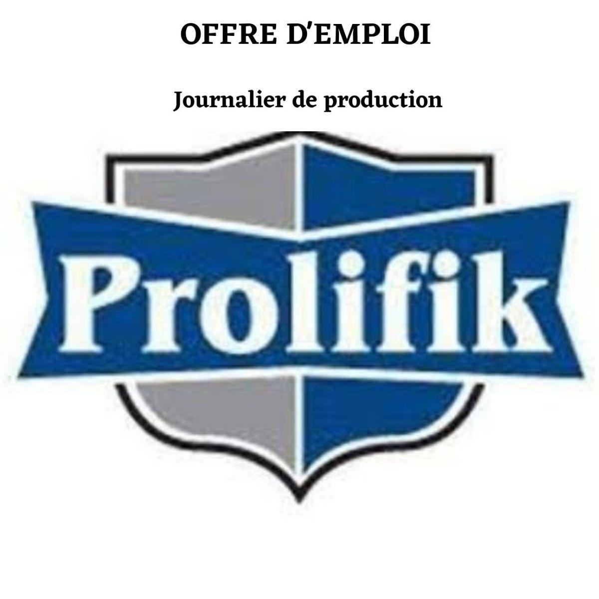Journalier de production – Prolifik